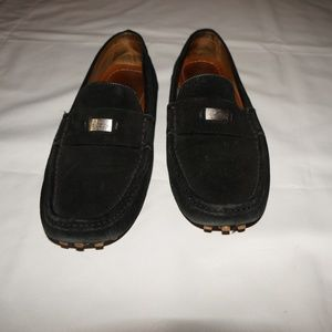 Gucci Drivers suede black loafers MENS 10